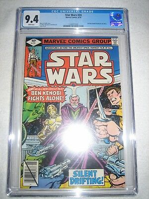 Star Wars # 24 Cgc 9.4 Wh - Obi-Wan Kenobi Flashback Solo Story!!!! Movie!!!