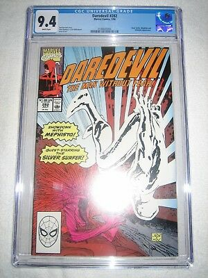 Daredevil # 282 Cgc 9.4 Wh - Silver Surfer, Mephisto & Inhumans Appearance!!!!!!