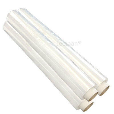 Extra Strong Clear Pallet Stretch Shrink Wrap Film 500mm x 250m 23mu x 3 Rolls
