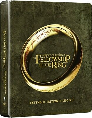 Lord Of The Rings The Fellowship Of The Ring Steelbook Extended Blu-ray Free P+P