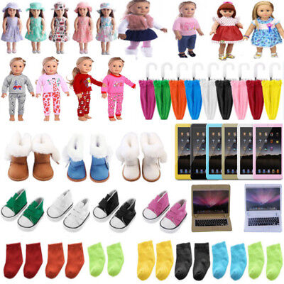 Clothes Shoes Accessories for 18inch American Girl Our Generation Dolls Dress CD