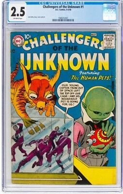 Challengers of the Unknown #1 (DC, 1958) CGC GD+ 2.5 Off-white pages.