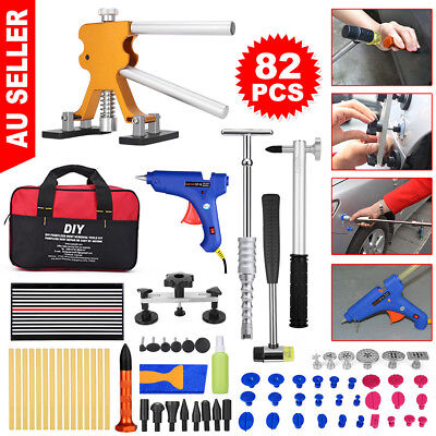 82x Paintless Dent Removal PDR Tools Slide Hammer Puller Lifter Hail Repair Kit