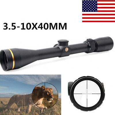 Tactical 3.5-10X40 Rifle Scope Duplex Reticle Mil Dot Optic Sight & Mounts USA