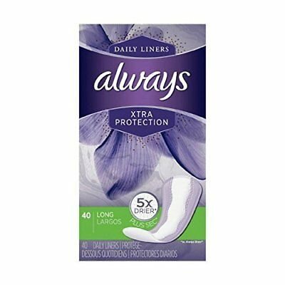 Always Dailies Xtra Protection Long Liners, 40 ea (Pack of 6)