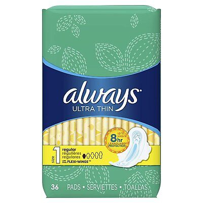 Always Ultra Thin with Flexi-Wings, 36-Count (Pack of 2)