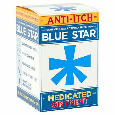 Blue Star Original Ointment w/ Soothing Aloe Anti-Itch Relief 2 oz (Pack of 4)
