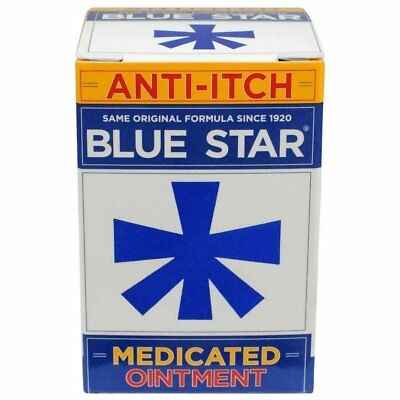 Blue Star Original Ointment w/ Soothing Aloe Anti-Itch Relief 2 oz (Pack of 2)