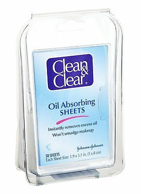 Clean and Clear Oil Absorbing Sheets - 50 per pack - 24 packs per case.
