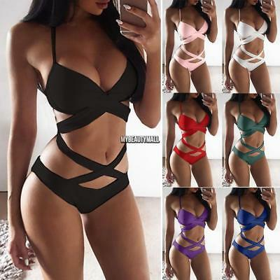 Women's One-Piece Bandage Push up Monokini Bikini Swimwear Swimsuit Bathing Suit