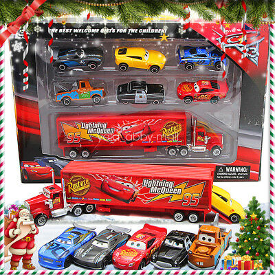 13PCS Xmas Cars 2 Lightning McQueen Racer Mack Truck Kid Toy Collection Set Gift
