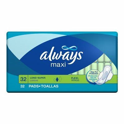 Always Maxi Feminine Pads with Flexi-wings, 32 Count - Pack of 6 (192 Total...