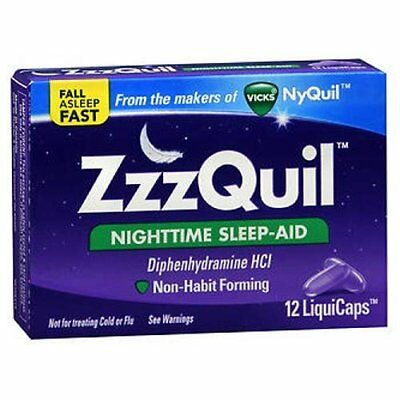 Vicks Zzzquil Nighttime Sleep Aid 12 Sg, Pack of 18