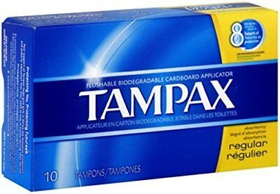 TAMPAX REGULAR FLUSH APPL 10 by Tampax