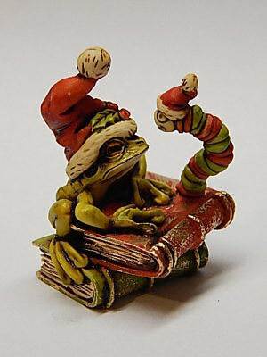 Neil Eyre Designs Christmas Holiday Scrooge Book Worm Tree Frog Santa Hat LE50