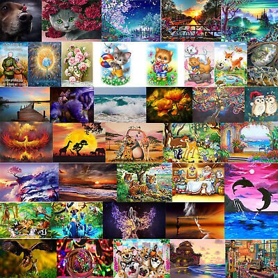 39 Types Full Drill 5D Diamond Painting Embroidery Cross Stitch Home Decor UK