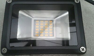 One 20 watt, 240 volt led flood light(warm white)outdoor security& junction box
