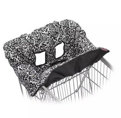 Infantino Comapct 2 in 1 Seat Cover Shopping Cart Restaurant High Chair Paisley