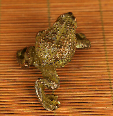 Rare chinese Old bronze hand carving Frog jin chan statue figure home decoration