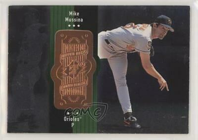 1998 SPx Finite #63 Mike Mussina Baltimore Orioles Baseball Card