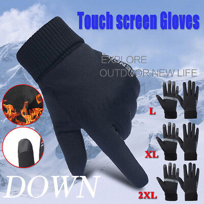 Winter Mens Womens Soft Liner Gloves Anti-Slip Thermal Cycling Ski Touch Screen
