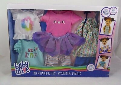 "Baby Alive Doll Clothes Set of 7 Pieces Mix n' Match Fashion Outfits for 12""-14"""