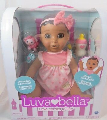 Luvabella Doll Brunette Hair Responsive Realistic Expressions Moves Talks NEW