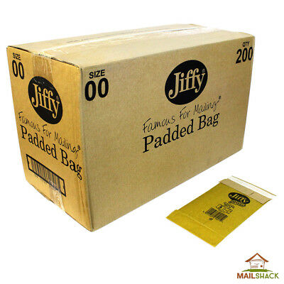 JIFFY GREEN Large Letter Padded Envelopes Bags | Size 00 | 120 x 220mm