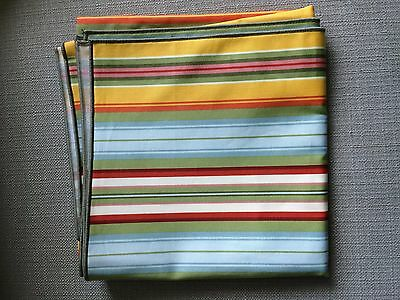 "LONGABERGER SUNFLOWER STRIPE 36"" FABRIC TABLE SQUARE New USA"