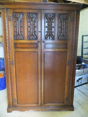 Antique 'Wood Brothers' Double Wardrobe 1930's Vintage