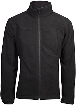 DBlade Mens Fleece Work Jacket Black Full Zip Stylish Thermal Work Wear