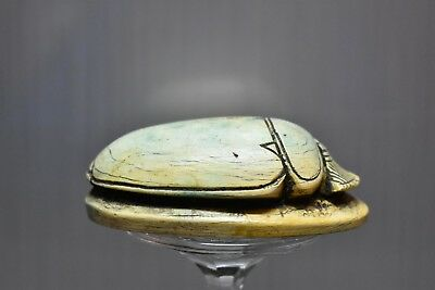 ANCIENT ANTIQUE Egyptian EGYPTIAN large stone scarab D (300-1500 BC