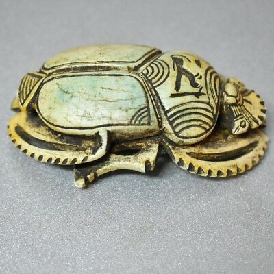 ANCIENT ANTIQUE Egyptian EGYPTIAN large stone scarab G (300-1500 BC
