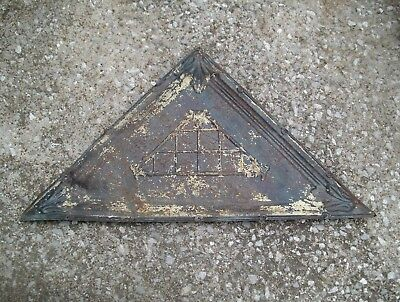 Antique Vintage Tin Ceiling pyramid triangle #8