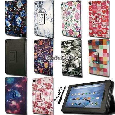 Smart Leather Stand Cover Case For Amazon Kindle Fire 7 / HD 8 / HD10 With Alexa