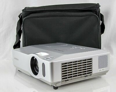 Hitachi CP-X300 3LCD Projector In ATA Travel Case WORKS!