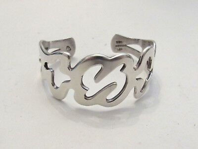 Vintage Heavy Sterling Silver Bracelet Mexico Handcrafted