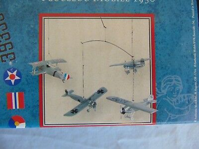 Authentic Models Flight 1930 Airplane Hanging Baby Mobile Nursery Decor