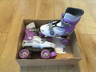 Roller Derby Trans 400 Adjustable Roller Boots skates Purple Size 11-13 infant