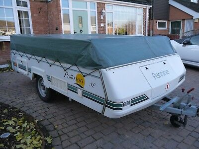 PENNINE PULLMAN FOLDING CAMPER trailer tent + AWNING, GARAGED, ONE OWNER CAMPER