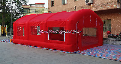 custom made 23ftx16ftx10ft red portable cloth inflatable spray paint booth