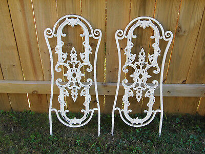 """Lot of  2 VINTAGE WROUGHT IRON ARCHITECTURAL SALVAGE WALL DECOR ART 32 1/2"""""""
