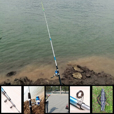 3.0M Saltwater Fishing Rod And Reel Spinning Combo Full Kit Line Hook Bag Lead
