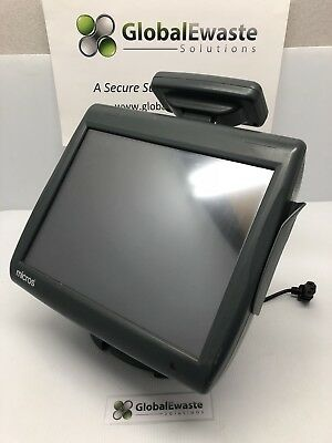 Micros Workstation 5A 400814-101 POS Touchscreen W/ Display Screen and Stand