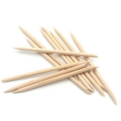 """Manicure Pedicure Hands Feet Cuticle Nails Pusher Sticks Wooden Remover 6"""" x 100"""