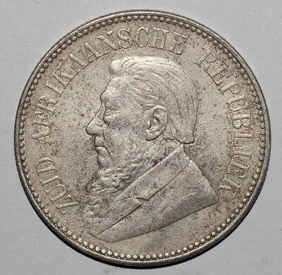 South African Ancient Silver Coin/ Republic Silver Pond 1893 本物