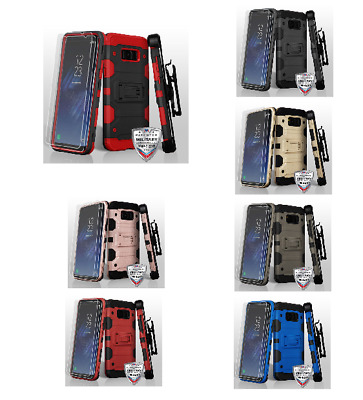 For Samsung Galaxy S8 Plus 3-in-1 Storm Tank Hybrid Protector Case Cover Combo