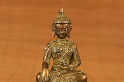 Big Rare chinese old bronze hand carving buddha statue home decoration