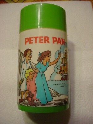1960's Peter Pan Thermos Only-Walt Disney-for Aladdin Lunch Box-Estate Find-Old