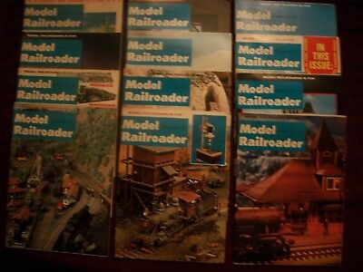 MODEL RAILROADER - 1969 -12 issues  - COMPLETE YEAR